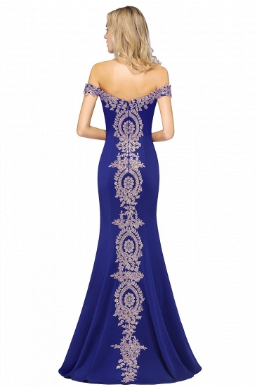 BMbridal Elegant Off-the-Shoulder Mermaid Prom Dress Long With Lace Appliques_21
