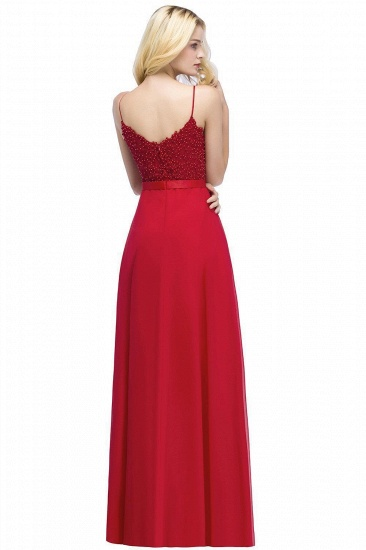 BMbridal Spaghetti Straps V-Neck Chiffon Lace Evening Dress_3