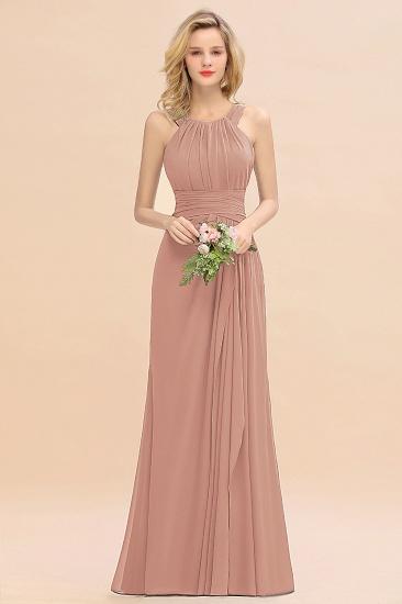 BMbridal Elegant Round Neck Sleeveless Stormy Bridesmaid Dress with Ruffles_6