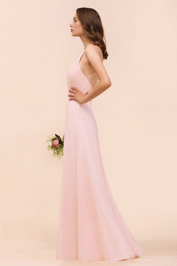 BMbridal Elegant Lace Spaghetti Straps Affordable Long Bridesmaid Dress_8
