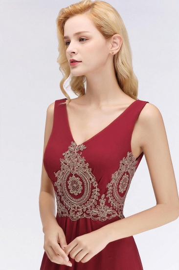 BMbridal A-Line Chiffon Lace Ruffles Evening Dress_5