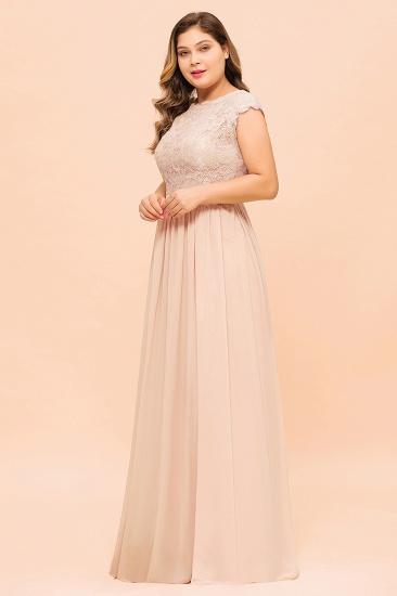 Elegant Jewel Chiffon Lace Affordable Bridesmaid Dresses with Slit_6