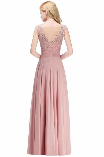 Elegant Lace Sleeveless Chiffon Long Bridesmaid Dress_3