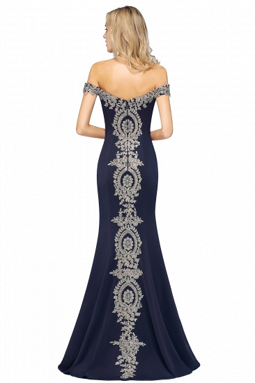 BMbridal Elegant Off-the-Shoulder Mermaid Prom Dress Long With Lace Appliques_24