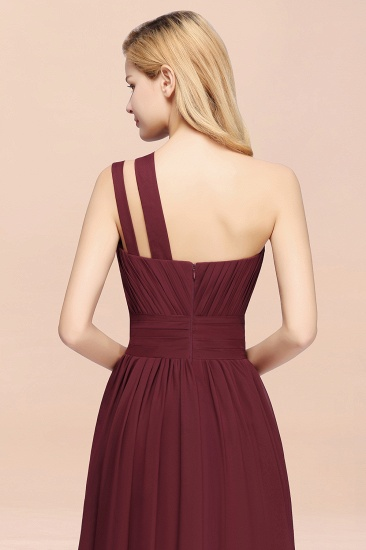 Stylish One-shoulder Sleeveless Long Junior Bridesmaid Dresses Cheap_58