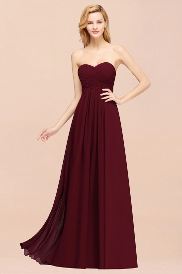 Vintage Sweetheart Long Grape Affordable Bridesmaid Dresses Online_54