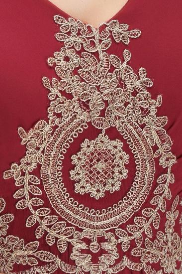 BMbridal A-Line Chiffon Lace Ruffles Evening Dress_7