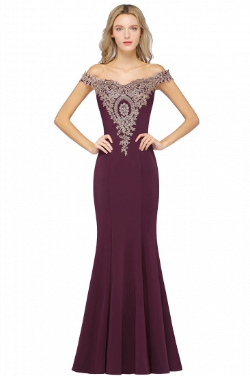 BMbridal Elegant Off-the-Shoulder Mermaid Prom Dress Long With Lace Appliques_4