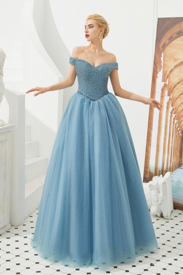 BMbridal Princess Off-the-Shoulder Prom Dress Beadings Sweetheart Ball Gown Evening Gowns_14