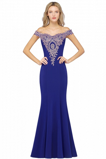 BMbridal Elegant Off-the-Shoulder Mermaid Prom Dress Long With Lace Appliques_5