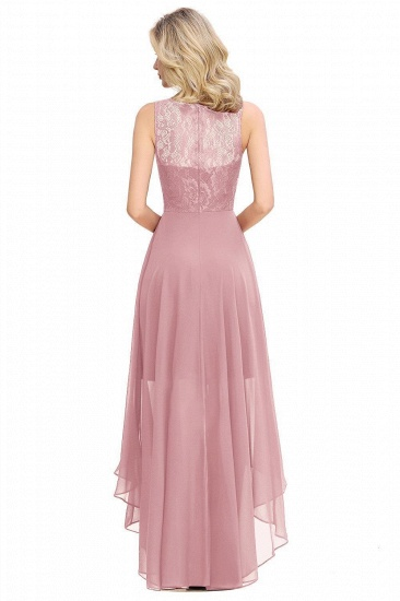 BMbridal A-line Hi-lo Chiffon Lace Bridesmaid Dress_6