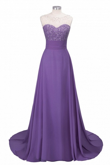 BMbridal Chic Jewel Chiffon Tulle Party Dress with Sequins_2