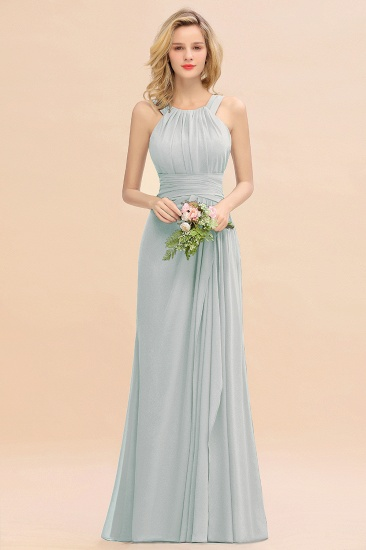 Elegant Round Neck Sleeveless Stormy Bridesmaid Dress with Ruffles_38
