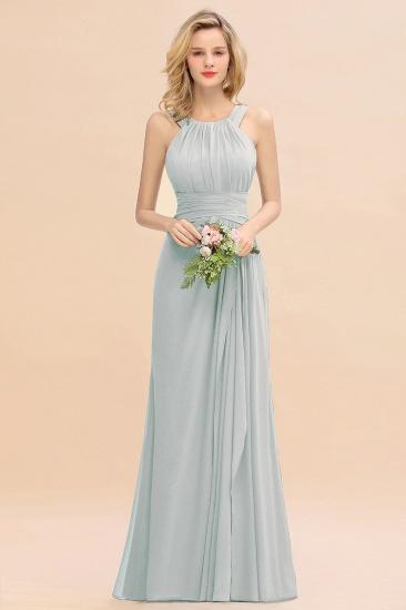 BMbridal Elegant Round Neck Sleeveless Stormy Bridesmaid Dress with Ruffles_38