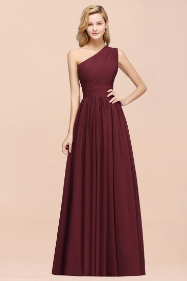 BMbridal Stylish One-shoulder Sleeveless Long Junior Bridesmaid Dresses Affordable_57