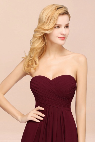 Vintage Sweetheart Long Grape Affordable Bridesmaid Dresses Online_57