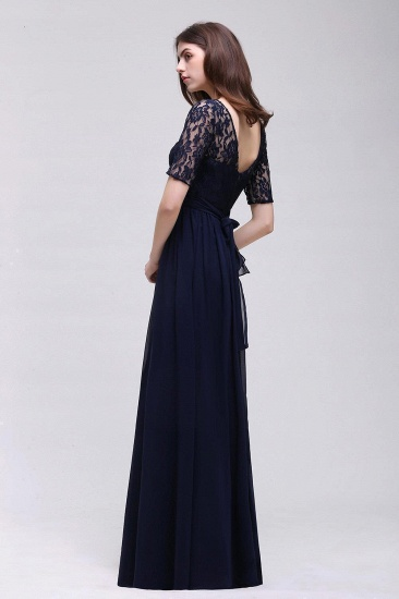BMbridal Half-Sleeve Lace Long Chiffon Evening Dress_16