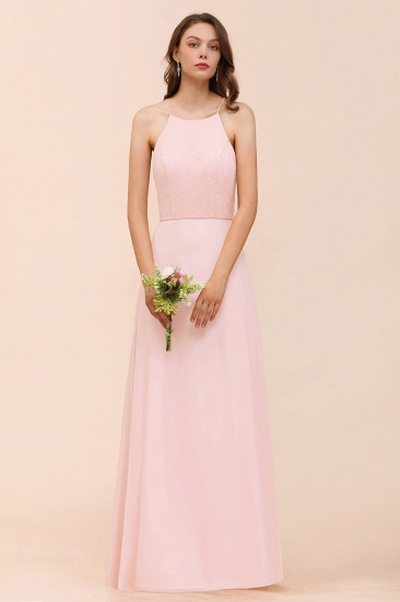 BMbridal Elegant Lace Spaghetti Straps Affordable Long Bridesmaid Dress_6