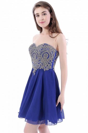 BMbridal Lace Chiffon Applique Short Prom Dress_6