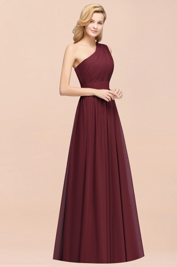 Stylish One-shoulder Sleeveless Long Junior Bridesmaid Dresses Affordable_56