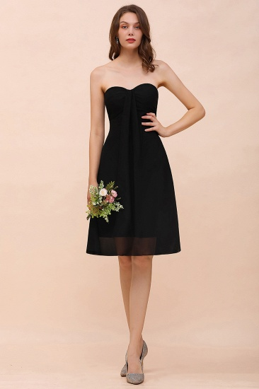Lovely Strapless Sweetheart Short Bridesmaid Dress