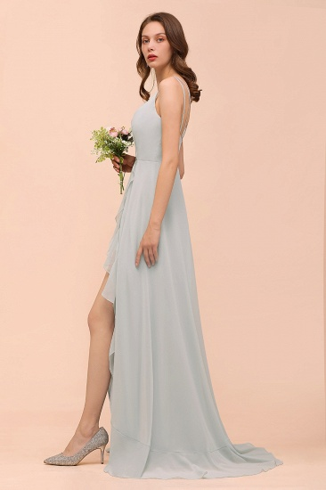 BMbridal Affordable V-Neck Ruffle Mist Chiffon Bridesmaid Dresses Affordable_9