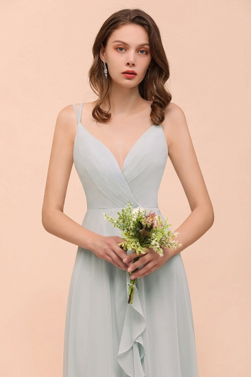 BMbridal Affordable V-Neck Ruffle Mist Chiffon Bridesmaid Dresses Affordable_7