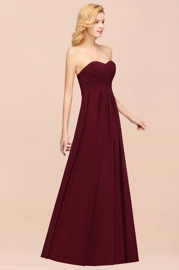 Vintage Sweetheart Long Grape Affordable Bridesmaid Dresses Online_60