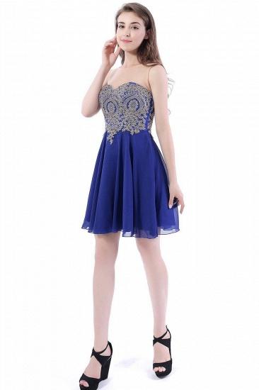 BMbridal Lace Chiffon Applique Short Prom Dress_4
