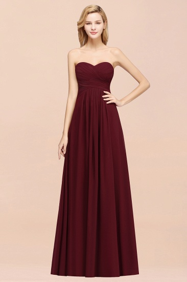 Vintage Sweetheart Long Grape Affordable Bridesmaid Dresses Online_55