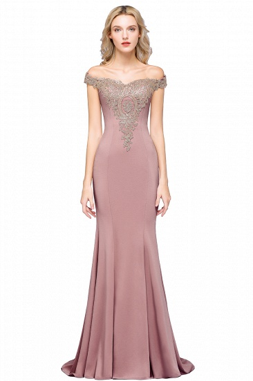 BMbridal Elegant Off-the-Shoulder Mermaid Prom Dress Long With Lace Appliques_1