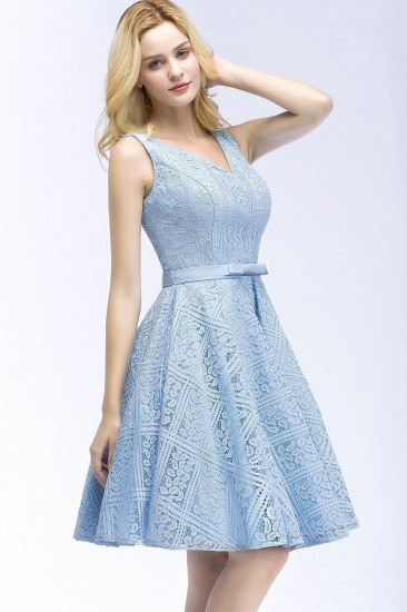 BMbridal Lovely A-line Lace Knee-Length Homecoming Dress_5
