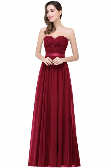 BMbridal Affordable Chiffon Strapless Navy Bridesmaid Dress with Ruffle In Stock_2
