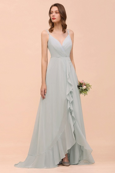 BMbridal Affordable V-Neck Ruffle Mist Chiffon Bridesmaid Dresses Affordable_5