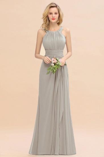 BMbridal Elegant Round Neck Sleeveless Stormy Bridesmaid Dress with Ruffles_30