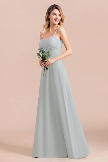 Mist Spaghetti-Straples Long Chiffon Bridesmaid Dresses Online_9