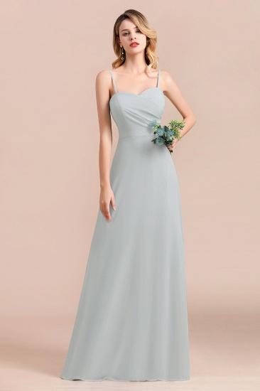 Mist Spaghetti-Straples Long Chiffon Bridesmaid Dresses Online_8
