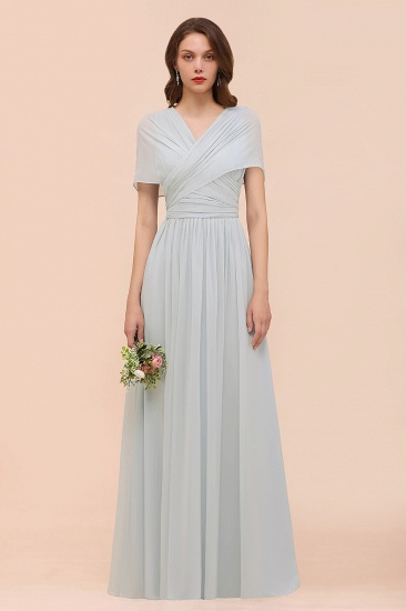 Gorgeous Ruffle Convertible Mist Chiffon Bridesmaid Dresses Online_1