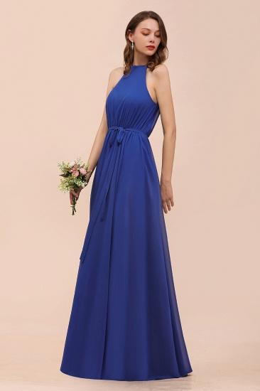 BMbridal Gorgeous Affordable Chiffon Ruffle Royal Blue Bridesmaid Dress_7