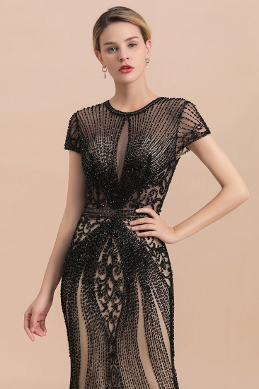 Luxury Mermaid All-Covered Beaded Prom Dress_7