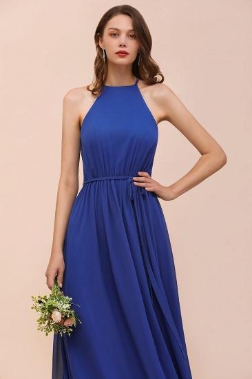 BMbridal Gorgeous Affordable Chiffon Ruffle Royal Blue Bridesmaid Dress_8