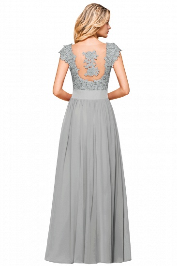 BMbridal Elegant Long Chiffon Prom Dress With Lace Appliques On Sale_19