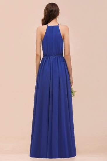 BMbridal Gorgeous Affordable Chiffon Ruffle Royal Blue Bridesmaid Dress_3