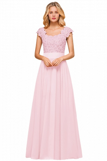 BMbridal Elegant Long Chiffon Prom Dress With Lace Appliques On Sale_1