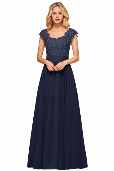BMbridal Elegant Long Chiffon Prom Dress With Lace Appliques On Sale_14