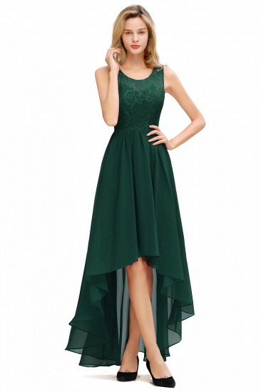 BMbridal A-line Hi-lo Chiffon Lace Bridesmaid Dress_2