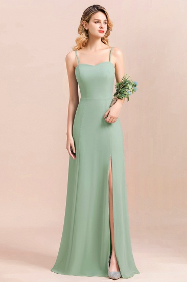 BMbridal Dusty Sage Spaghetti Straps Sweetheart Affordable Bridesmaid Dress_9