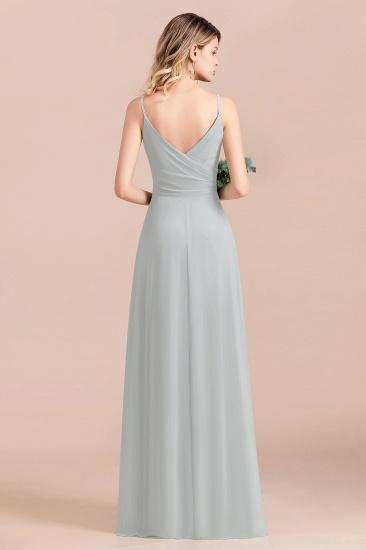 Mist Spaghetti-Straples Long Chiffon Bridesmaid Dresses Online_3