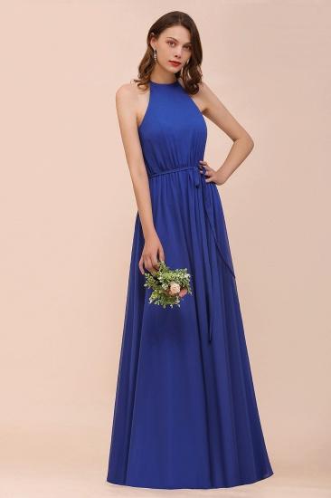 BMbridal Gorgeous Affordable Chiffon Ruffle Royal Blue Bridesmaid Dress_4