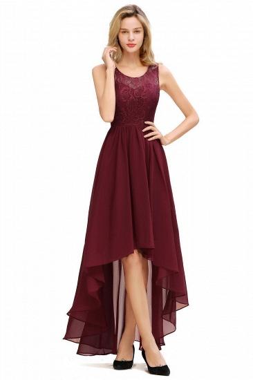 BMbridal A-line Hi-lo Chiffon Lace Bridesmaid Dress_3